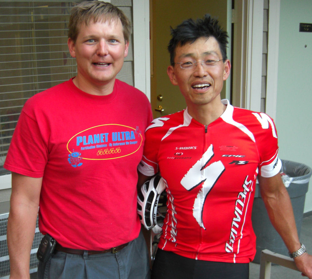 Robert Choi at finish of Mulholland Double