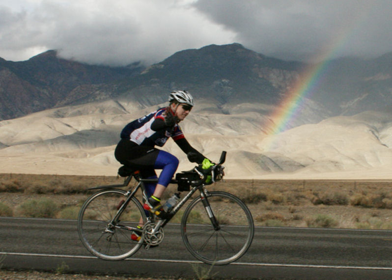 Joan Grant on the Eastern Sierra Double 2009