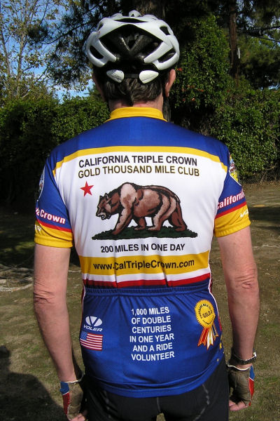 Back of Gold Thousand Mile Club Jersey